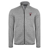 Grey Heather Fleece Jacket-Mascot Embroidery
