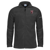 Columbia Full Zip Charcoal Fleece Jacket-Mascot Embroidery