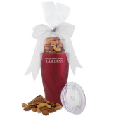 Deluxe Nut Medley Vacuum Insulated Red Tumbler-Mascot Embroidery Engraved