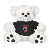 Plush Big Paw 8 1/2 inch White Bear w/Black Shirt-Mascot