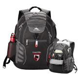 High Sierra Big Wig Black Compu Backpack-Mascot Embroidery