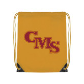 Gold Drawstring Backpack-CMS Stacked