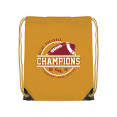 Gold Drawstring Backpack-2018 SCIAC Football Champions