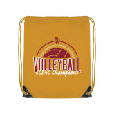 Gold Drawstring Backpack-2018 SCIAC Volleyball Champions
