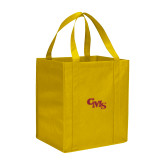 Non Woven Gold Grocery Tote-CMS Stacked