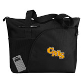 Excel Black Sport Utility Tote-CMS Stacked