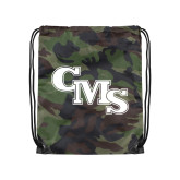 Camo Drawstring Backpack-CMS Stacked