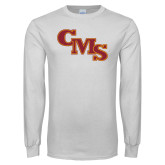 White Long Sleeve T Shirt-CMS Stacked