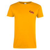Ladies Gold T Shirt-CMS Stacked