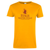 Ladies Gold T Shirt-Mens Water Polo
