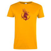 Ladies Gold T Shirt-Stag