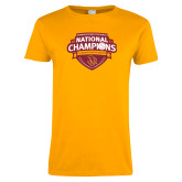 Ladies Gold T Shirt-Womens Volleyball