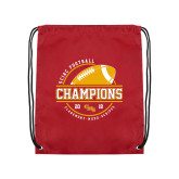 Cardinal Drawstring Backpack-2018 SCIAC Football Champions