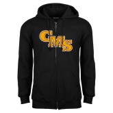 Black Fleece Full Zip Hoodie-CMS Stacked
