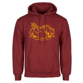 Cardinal Fleece Hoodie-Stag and Athena Logo
