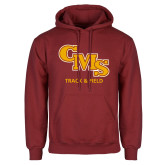Cardinal Fleece Hoodie-CMS Track and Field