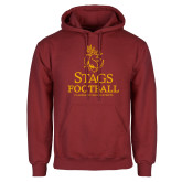 Cardinal Fleece Hoodie-Stags Football