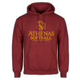 Cardinal Fleece Hoodie-Athenas Softball