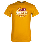 Gold T Shirt-2018 SCIAC Football Champions