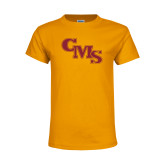 Youth Gold T Shirt-CMS Stacked