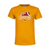 Youth Gold T Shirt-2018 SCIAC Football Champions