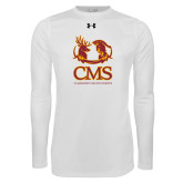 Under Armour White Long Sleeve Tech Tee-CMS Mascots