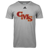 Adidas Climalite Sport Grey Ultimate Performance Tee-CMS Stacked