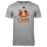 Adidas Climalite Sport Grey Ultimate Performance Tee-CMS Mascots