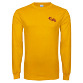 Gold Long Sleeve T Shirt-CMS Stacked