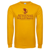 Gold Long Sleeve T Shirt-Athenas Volleyball