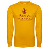 Gold Long Sleeve T Shirt-Mens Water Polo