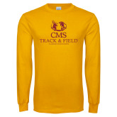 Gold Long Sleeve T Shirt-Track and Field