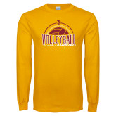 Gold Long Sleeve T Shirt-2018 SCIAC Volleyball Champions