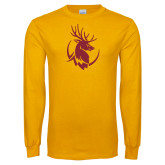 Gold Long Sleeve T Shirt-Stag