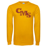 Gold Long Sleeve T Shirt-CMS Distressed