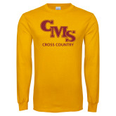 Gold Long Sleeve T Shirt-CMS Cross Country
