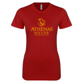 Next Level Ladies SoftStyle Junior Fitted Cardinal Tee-Athenas Soccer