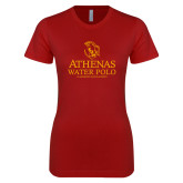 Next Level Ladies SoftStyle Junior Fitted Cardinal Tee-Athenas Water Polo