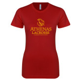 Next Level Ladies SoftStyle Junior Fitted Cardinal Tee-Athenas Lacrosse