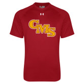 Under Armour Cardinal Tech Tee-CMS Stacked