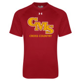 Under Armour Cardinal Tech Tee-CMS Cross Country