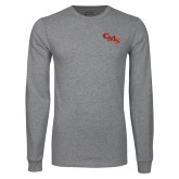 Grey Long Sleeve T Shirt-CMS Stacked