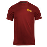 Russell Core Performance Cardinal Tee-CMS Stacked