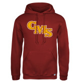 Russell DriPower Cardinal Fleece Hoodie-CMS Stacked