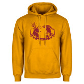 Gold Fleece Hoodie-Stag and Athena Logo