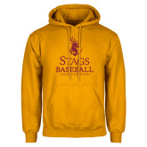 Gold Fleece Hoodie-Stags Baseball