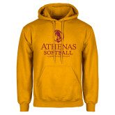Gold Fleece Hoodie-Athenas Softball