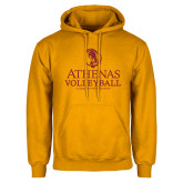 Gold Fleece Hoodie-Athenas Volleyball