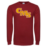 Cardinal Long Sleeve T Shirt-CMS Stacked