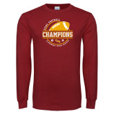 Cardinal Long Sleeve T Shirt-2018 SCIAC Football Champions